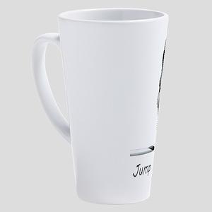 Sheltie Jump 17 oz Latte Mug