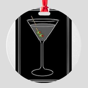 Modern Martini Round Ornament