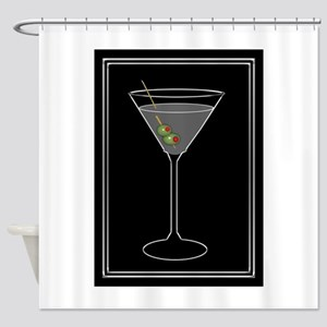 Modern Martini Shower Curtain
