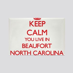 Keep calm you live in Beaufort North Carol Magnets
