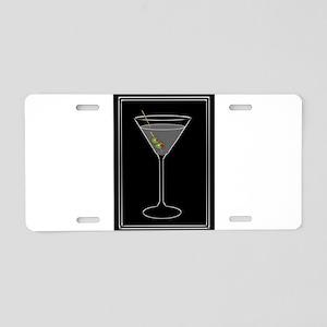 Modern Martini Aluminum License Plate