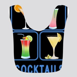 Four Cocktails in Neon Sign Bib