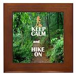 Keep Calm and Hike On Framed Tile