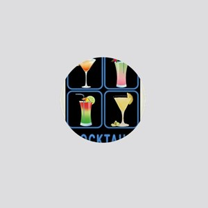 Four Cocktails in Neon Sign Mini Button