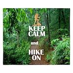 Keep Calm and Hike On King Duvet