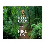 Keep Calm and Hike On Throw Blanket