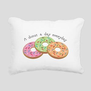 Donut_A Donut A Day Everyday Rectangular Canvas Pi