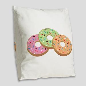 Donut_Base Burlap Throw Pillow