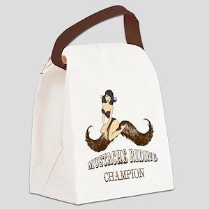 Mustache Riding Champion Canvas Lunch Bag