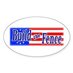 Build The Fence Oval Sticker
