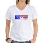 Build The Fence Women's V-Neck T-Shirt