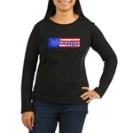 Build The Fence Women's Long Sleeve Dark T-Shirt