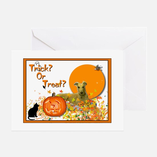 Halloween Greyhound Greeting Cards