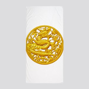 Golden Dragon Beach Towel