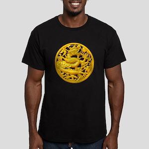 Golden Dragon Men's Fitted T-Shirt (dark)