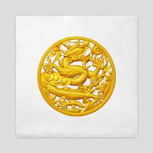 Golden Dragon Queen Duvet