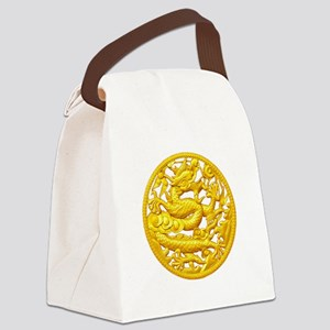 Golden Dragon Canvas Lunch Bag