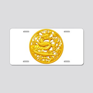 Golden Dragon Aluminum License Plate