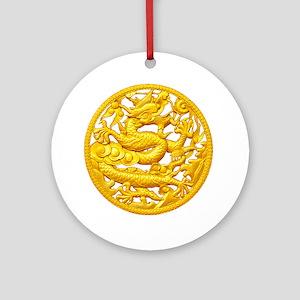 Golden Dragon Ornament (Round)
