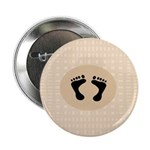 """Baby Feet 2.25"""" Button (100 pack)"""