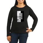 Black & White Women's Long Sleeve Dark T-Shirt