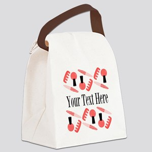 Pink Nail Salon Custom Canvas Lunch Bag