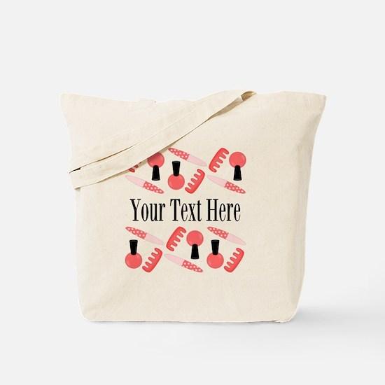 Pink Nail Salon Custom Tote Bag