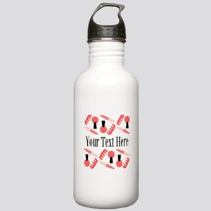 Pink Nail Salon Custom Water Bottle