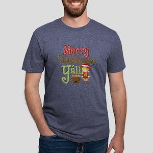 Christmas Y'all Mens Tri-blend T-Shirt