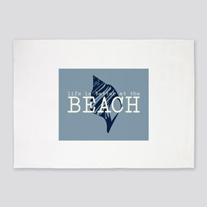 Life Is Better At The Beach 5'x7'Area Rug