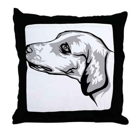 English Foxhound Throw Pillow