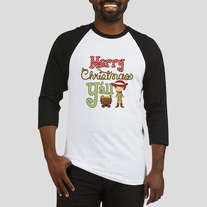 Christmas Y'all Baseball Tee