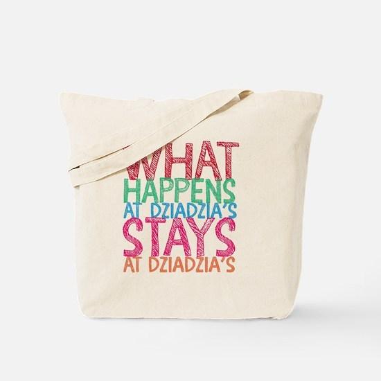 What Happens at Dzia Dzia's Tote Bag