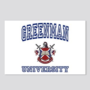 GREENMAN University Postcards (Package of 8)
