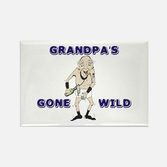 Grandpa's Gone Wild Rectangle Magnet