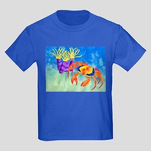 Crab - original design Kids Dark T-Shirt