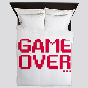 Game Over Queen Duvet