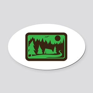 CAMPING Oval Car Magnet