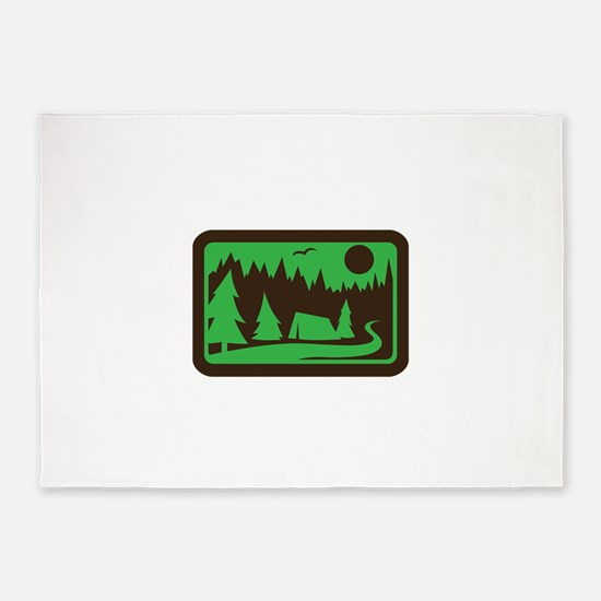 CAMPING 5'x7'Area Rug