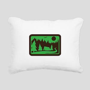 CAMPING Rectangular Canvas Pillow