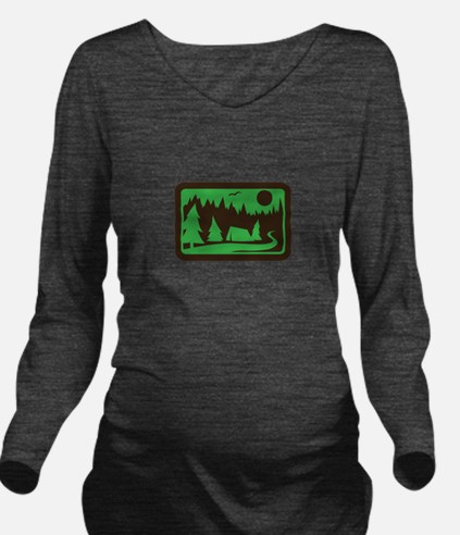 CAMPING Long Sleeve Maternity T-Shirt