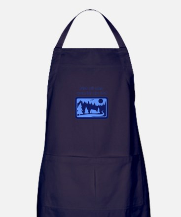 NOT ALL WHO WANDER Apron (dark)