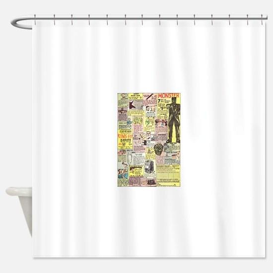 Cute Comic book Shower Curtain