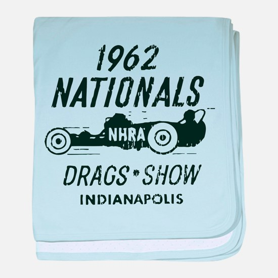 Drags Racing Indianapolis 1962 baby blanket