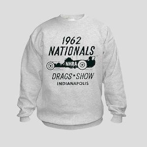 Drags Racing Indianapolis 1962 Kids Sweatshirt