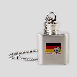 Deutschland Soccer / Fussball Flask Necklace