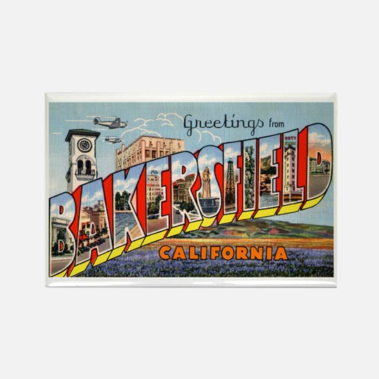 Bakersfield California Greetings Rectangle Magnet