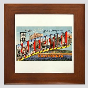Bakersfield California Greetings Framed Tile