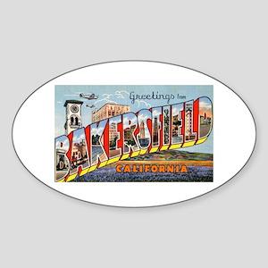 Bakersfield California Greetings Oval Sticker