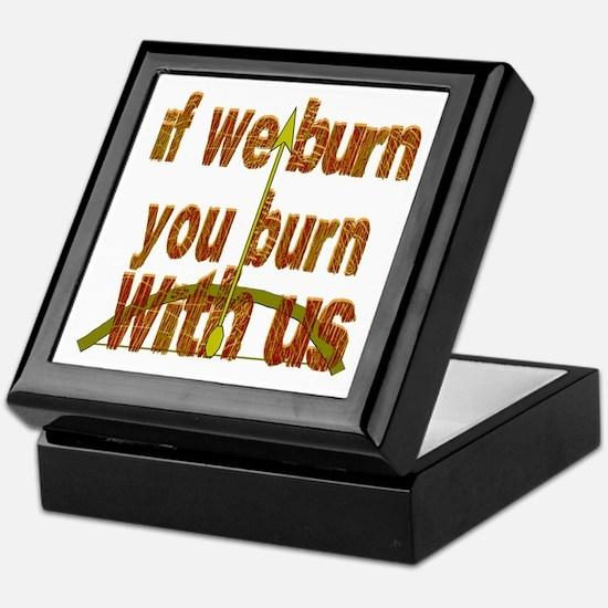 If We Burn Small Arrow Keepsake Box